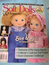 SOFT DOLLS & ANIMALS~July 2012 cloth doll patterns~techniques~tips magazine