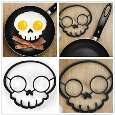 Egg Mould Silicon Skull Frying Ring Pancake Mold Funny Halloween Pirate Party