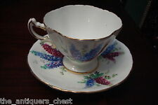 Hammersley England floral and gold rim cup and saucer[a*5-b2]