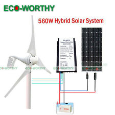 560W/H Hybrid System: 400W Wind Turbine Generator + 160W PV Solar Panel for Home