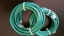2pc 15ft. RJ11 RJ12 CAT5e Green DSL Telephone Data Cable For Centurylink, AT&T,