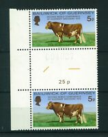 Guernsey 1972 Guernsey Breeders Conference Gutter Pair of stamps. Mint. Sg 71.