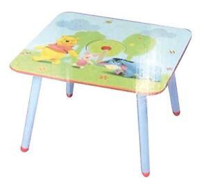 Tavolo Disney in legno Winnie the pooh - Mis.60cm x 60 cm con altezza 43,5 cm