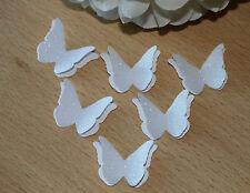 25 bianco glitter, Perla Farfalla coriandoli, decorazione tavola