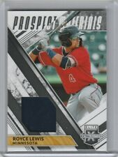 2019 Panini Elite Extra Edition Royce Lewis Prospects Materials Minnesota Twins