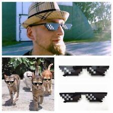 10Pc New Thug Life Glasses 8 Bit Pixel deal with It Sunglasses Unisex Sunglasses