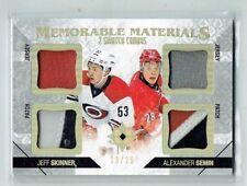 14-15 UD Ultimate Memorable Materials  Jeff Skinner & Alexander Semin  /25