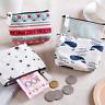 1PC Canvas Mini Purse  Card Key  Pouch Bag Zipper Coin Purse Card Holder  Wallet