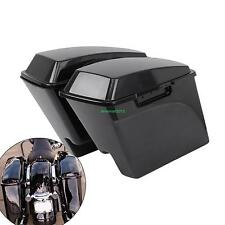 Extended Unpainted Hard Saddle Bags Saddlebags For Harley Touring Glide 99-13