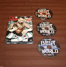 WWE: CM Punk - Best in the World (DVD, 2012, 3-Disc Set)