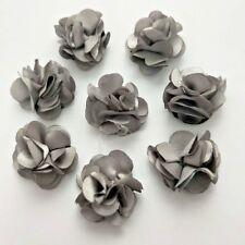 30 brown handmad flower applique/embellishment/dress/scrapbook/DIY/craft/sewing/