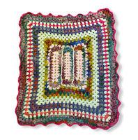 Vintage Handmade Crochet Afghan Baby Blanket Throw  29 X 36 Unisex