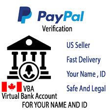 CAD Virtual Bank account For PayPal Verification CANADA (VBA)