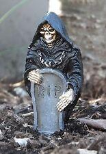 3 Inch + Grim Reaper w Headstone Custom Miniature 1/24 Scale Half Scale Diorama
