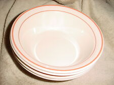 CORELLE ROSE GARDEN CEREAL / SOUP BOWLS x4 GENTLY USED FREE USA SHIPPING
