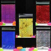 100x, 3''x4'' Glitter Metallic Lip&Tape Cello Cellophane Party Favors Gift Bags