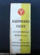 alte Pappschachtel für den Kaufladen,Kaloderma Gelee,F.Wolff & Sohn,Karlsruhe