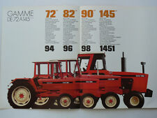 Prospectus RENAULT Tracteur 72 145 CH tractor traktor trattori brochure prospekt