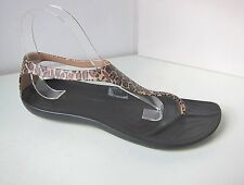 Crocs Sexi wild Flip Sandale leo schwarz  W 7 37 38  sandals thongs black gold