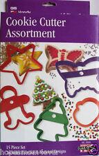 NIB GS 15 piece Cookie Cutter Assortment Set Seasonal & Everyday Plastic  #3504