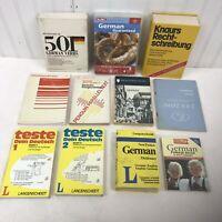 Lot of 11 GERMAN Language Study Aids - berlitz cd dictionary grammar dual text