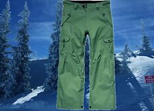 686 Mens Large 36-38 Olive Cargo Snowboard Ski Pants Waterproof Vented Nwt $235