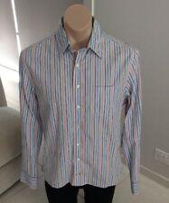 THOMAS PINK Mens Button Down Shirt Long Sleeve Striped Medium [MT1]