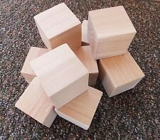 """Blocks Wooden Qty 10 - 2 x 2 x 2"""" Wood Craft Block 2 in Cubes Squared Edges NEW!"""