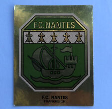 Panini Fussballsticker 1980   F.C. Nantes  Gold Wappen Fussballbild