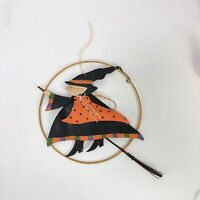 Metal art hanging witch decor