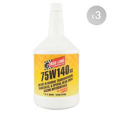 RED LINE 75w-140 NS GL-5 Gear Oil 75W140 3 x 1 US Quart (2.838 litre)