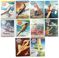 Vintage Lot of 10 Model Airplane News Magazines (Early 1950's)