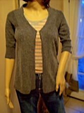 C Luce Inc. Size M womens Gray sweater wool, angora, hand-wash open front