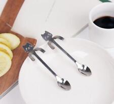 Cartoon Cat Stainless Steel Tea Coffee Spoon Ice Cream Tableware Xmas Gift COOL