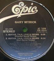 "GARY MYRICK ~ GUITAR TALK LOVE AND DRUMS ~ LP s/s 12"" Etched Vinyl (VG++)"