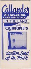 c1940 Callander Ontario Canada Tourism Brochure