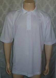 NWT Calcutta Short Sleeve Polo Technical Fishing Shirt SPF50 Medium White