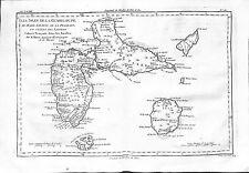 Antique maps, Les isles de la Guadeloupe de Marie Galante,…