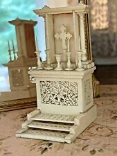 Antique Miniature Dollhouse CARVED BONE French Napoleonic POW 1760s Prayer Bench