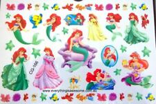 Princess Ariel Little Mermaid Temporary Tattoo Sheet Kids Party Bag Fil