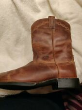 ARIAT Brown Leather Roper Cowboy Western Boots Womens Size 8.5 C Style 14525