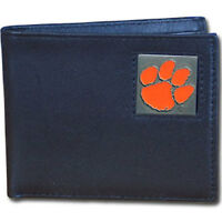 NCAA Clemson Tigers Leather Bi-fold Wallet