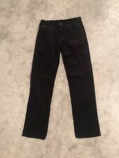 "Men's Wrangler Black Cords Texas Stretch Jeans Trousers Waist 32"" Leg 34"""