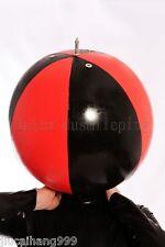 100% Latex Rubber Gummi Inflatable Ball Mask Hood Catsuit Suit Halloween -
