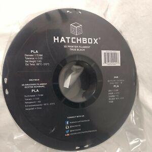 Hatchbox PLA 3D Printer 1.75 mm Filament True Black 1 kg Spool