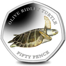 NEW  50 PENCE 2019 BRITISH INDIAN OCEAN TERRITORY OLIVE RIDLEY  TURTLE PRE ORDER