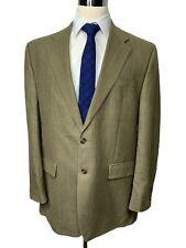 $350 Ralph Lauren Mens Tan Silk & Wool Sport Coat Blazer 44L