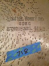 "Regina Music Box Disc 27"" 4168 Kiss Me Honey Do"