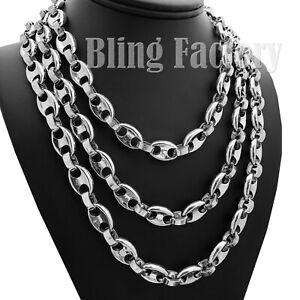 """Hip Hop Silver Plated Rapper's 6mm 18"""" 20"""" 24"""" Gucci Link Chain Bling Necklace"""