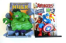 Marvel Hulk and Captain America 3D Comic Standee Figure - Loot Crate Exclusive
